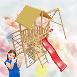 Детская площадка для дачи со столиком и лавочкой