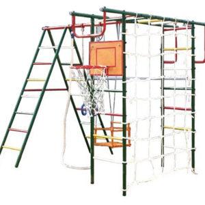 detskij sportivnyj kompleks dlja dachi vertikal ap ulichnyj s setkoj