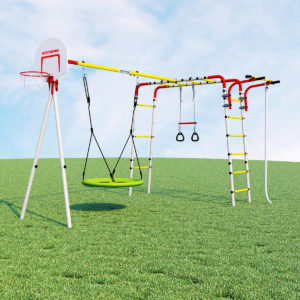 detskij sportivnyj kompleks dlja dachi romana akrobat 2 kacheli gnezdo