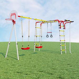 detskij sportivnyj kompleks dlja dachi romana akrobat 2 kacheli plastikovye