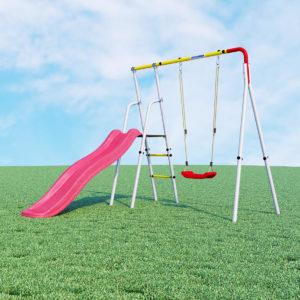 Детский спортивный комплекс для дачи ROMANA Лето (качели пластиковые)