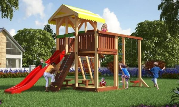 Детский игровой комплекс для дачи Савушка 14