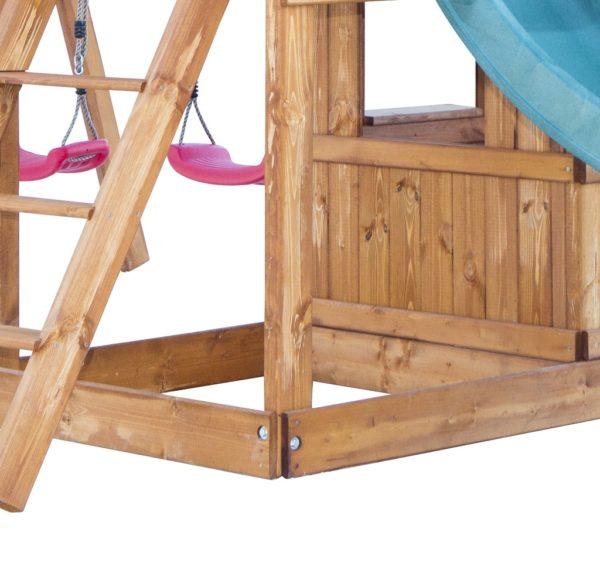 detskaja igrovaja ploshhadka babygarden s balkonom zakrytym domikom i dvumja gorkami3