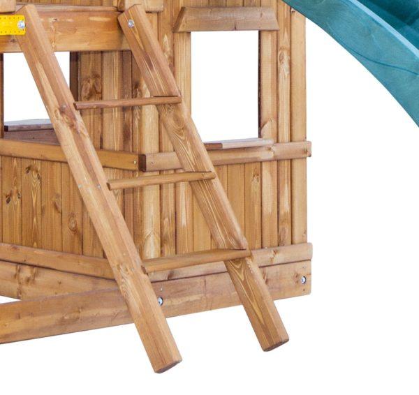 detskaja igrovaja ploshhadka babygarden s balkonom zakrytym domikom i dvumja gorkami4