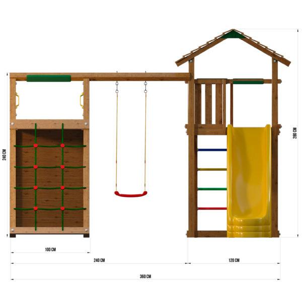detskie gorodki jungle cottage climb module xtra4