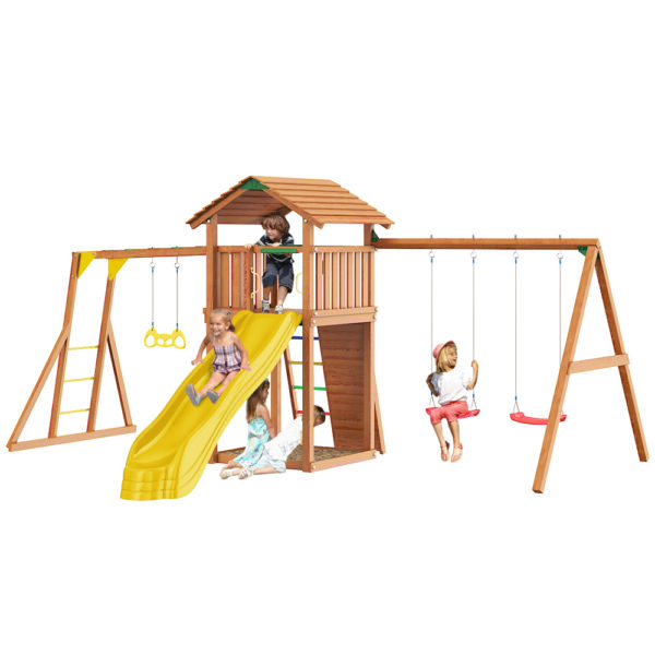 detskie gorodki jungle cottage rock swingmodule xtra rukohod s gimnasticheskimi kolcami