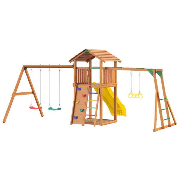 detskie gorodki jungle cottage rock swingmodule xtra rukohod s gimnasticheskimi kolcami1