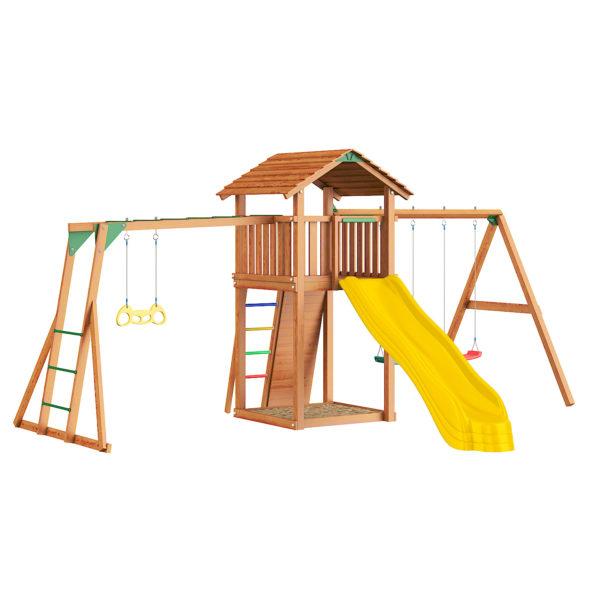detskie gorodki jungle cottage rock swingmodule xtra rukohod s gimnasticheskimi kolcami2
