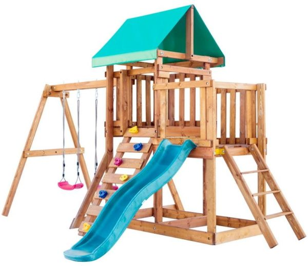 igrovaja ploshhadka babygarden s balkonom skalolazkoj i gorkoj 1.8m