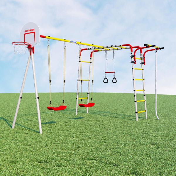 Детский спортивный комплекс для дачи ROMANA Акробат - 2 (качели пластиковые)