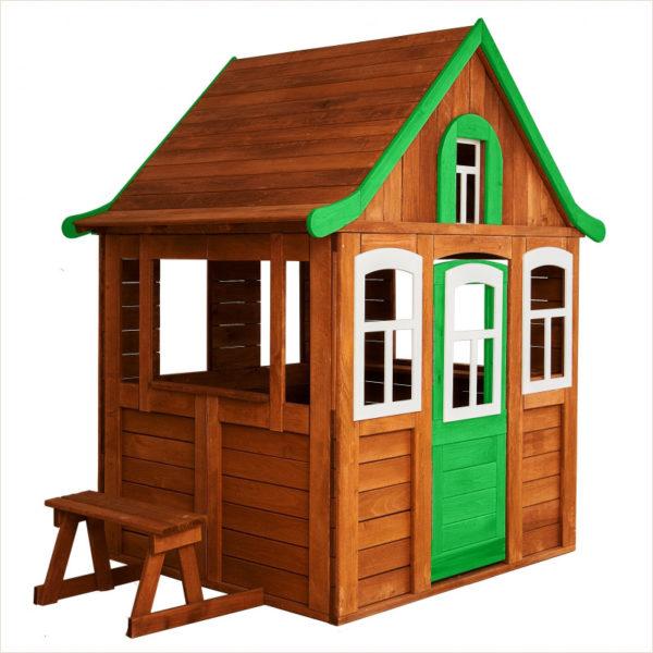 Игровой домик Цветочный зеленый Можга Красная Звезда
