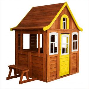 Игровой домик Цветочный желтый Можга Красная Звезда