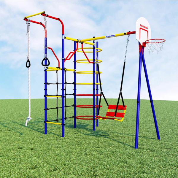 Детский спортивный комплекс для дачи ROMANA Космодром (качели цепные)