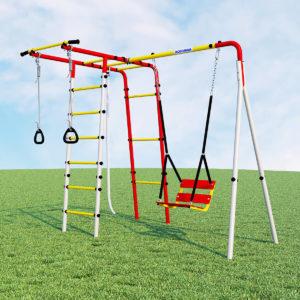 Детский спортивный комплекс для дачи ROMANA Лесная поляна - 3 (качели цепные)