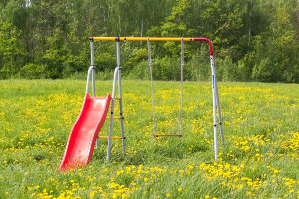 Детский спортивный комплекс для дачи ROMANA Лето (качели гнездо)_4
