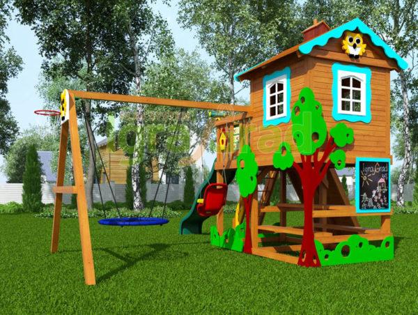 детская площадка igragrad домик 1 4