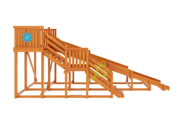 Детская деревянная зимняя горка Snow Fox, скат 5,9 м 2