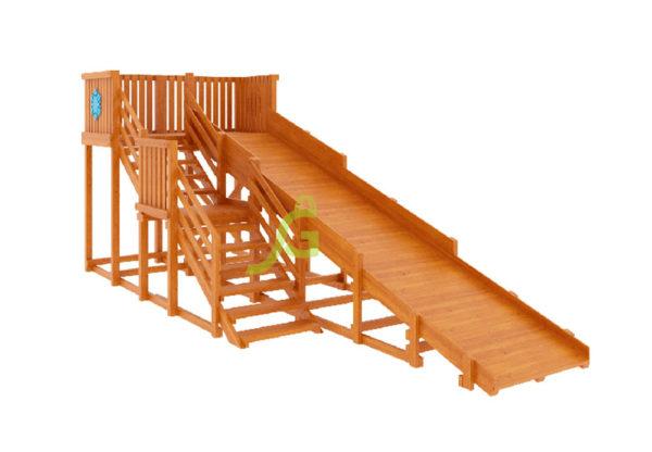 Детская деревянная зимняя горка Snow Fox, скат 5,9 м 1