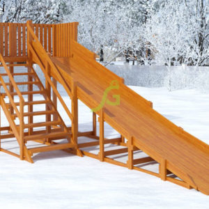 detskaja derevjannaja zimnjaja gorka snow fox skat 59 m