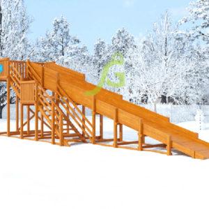 Зимняя горка Snow Fox, скат 10 м 6