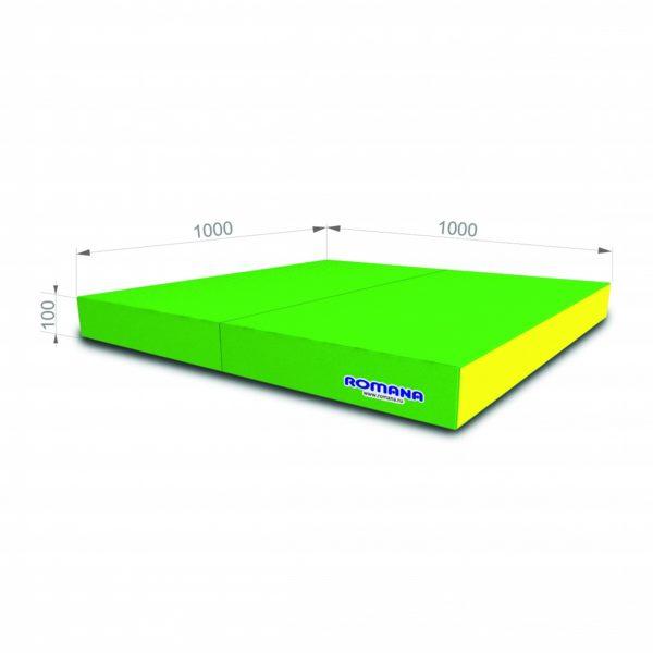 РОМАНА Мягкий щит (Мат) 1000*1000*100, в 2 сложения светло-зеленый желтый