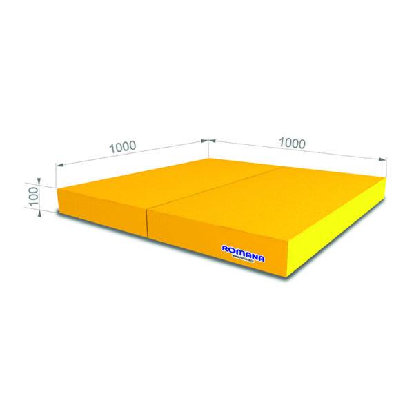 РОМАНА Мягкий щит (Мат) 1000*1000*100, в 2 сложения желтый