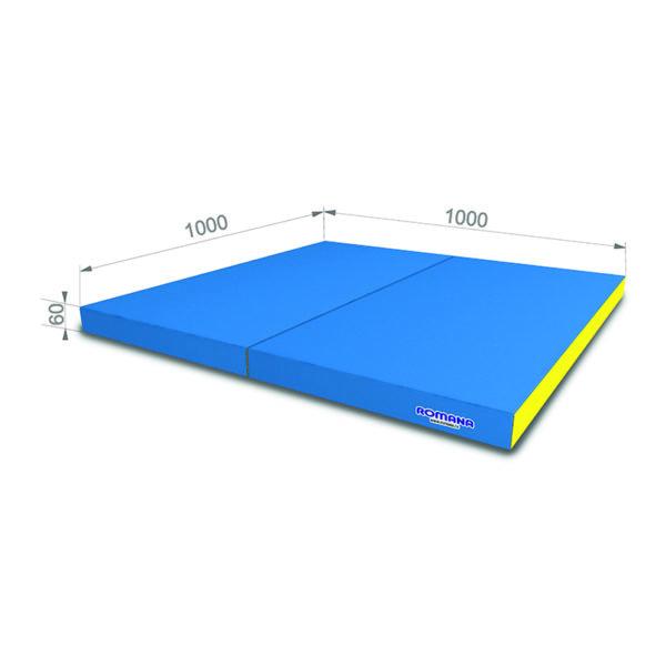 РОМАНА Мягкий щит (Мат) 1000*1000*60, в 2 сложения голубой-желтый