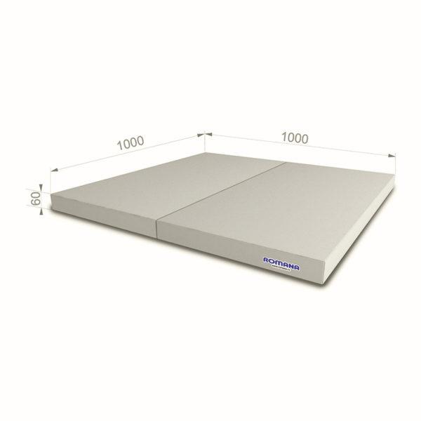 РОМАНА Мягкий щит (Мат) 1000*1000*60, в 2 сложения серый