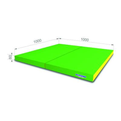 РОМАНА Мягкий щит (Мат) 1000*1000*60, в 2 сложения светло-зеленый желтый