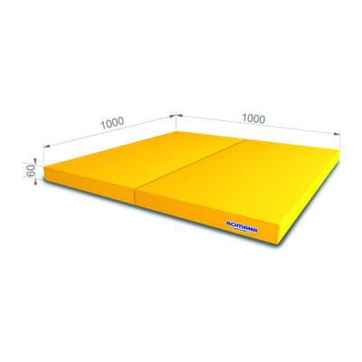 РОМАНА Мягкий щит (Мат) 1000*1000*60, в 2 сложения желтый