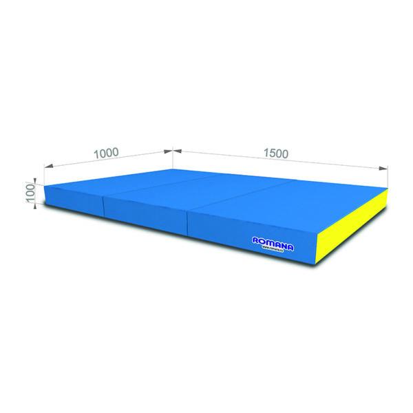 РОМАНА Мягкий щит (Мат) 1000*1500*100, в 3 сложения голубой-желтый