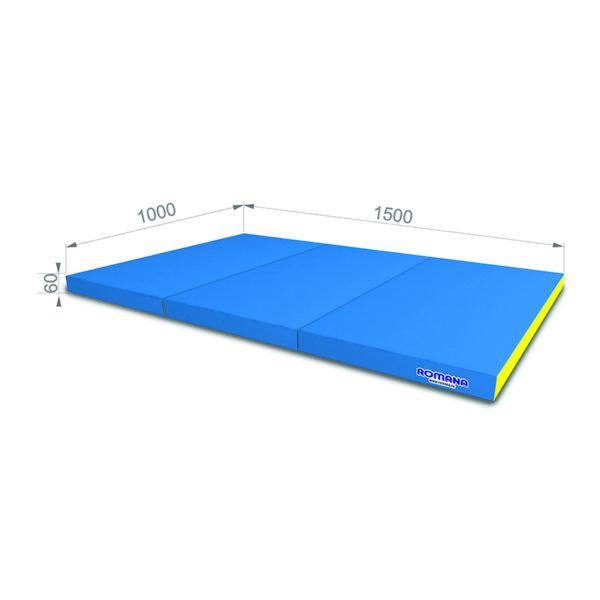 РОМАНА Мягкий щит (Мат) 1000*1500*60, в 3 сложения голубой-желтый