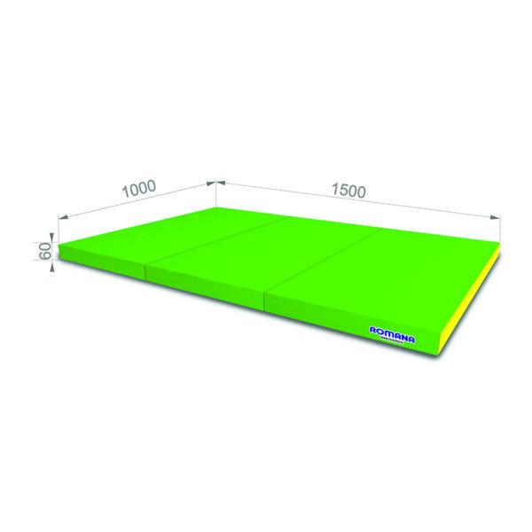 РОМАНА Мягкий щит (Мат) 1000*1500*60, в 3 сложения светло-зеленый-желтый