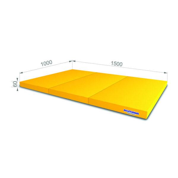 РОМАНА Мягкий щит (Мат) 1000*1500*60, в 3 сложения желтый
