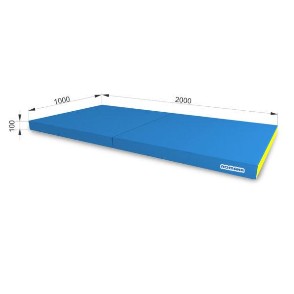 РОМАНА Мягкий щит (Мат) 1000*2000*100, в 2 сложения голубой-желтый
