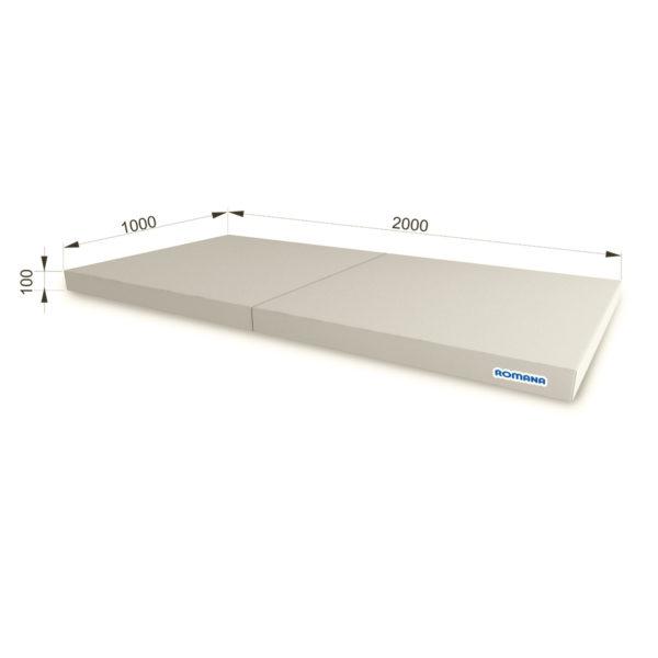 РОМАНА Мягкий щит (Мат) 1000*2000*100, в 2 сложения серый