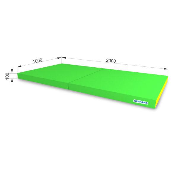 РОМАНА Мягкий щит (Мат) 1000*2000*100, в 2 сложения светло-зеленый желтый