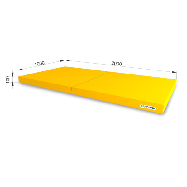 РОМАНА Мягкий щит (Мат) 1000*2000*100, в 2 сложения желтый
