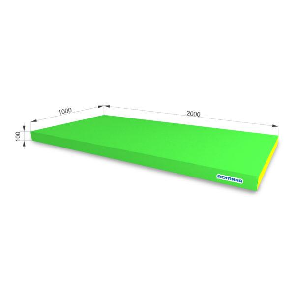 РОМАНА Мягкий щит (Мат) 2000*1000*100, одинарный светло-зеленый желтый
