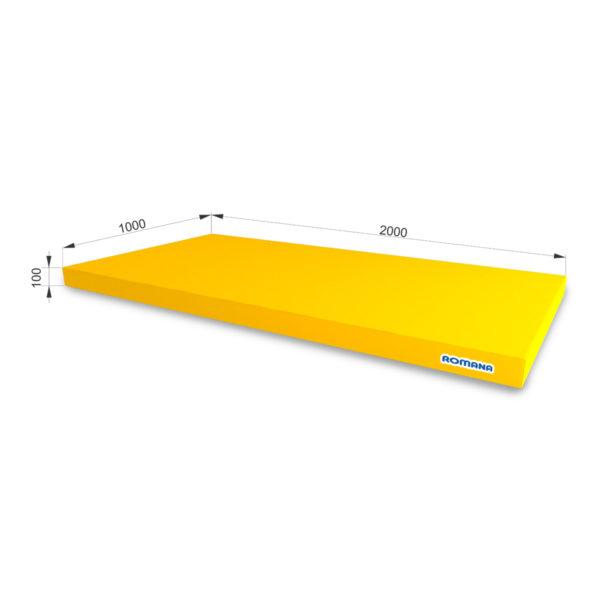 РОМАНА Мягкий щит (Мат) 2000*1000*100, одинарный желтый