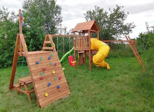 Детская площадка Выше Всех Маугли с винтовой горкой 2
