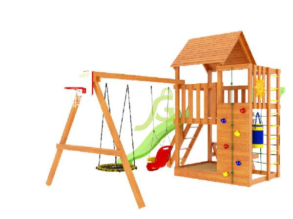 Детская площадка IgraGrad Крафт Pro 3 (скат 2,2)-4