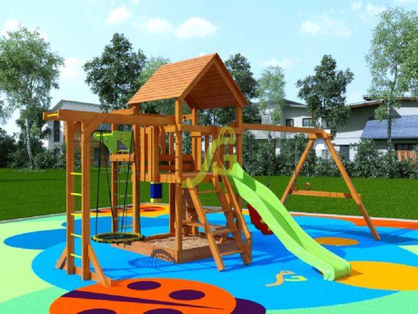 Детская площадка IgraGrad Крафт Pro 4 (скат 2.2)