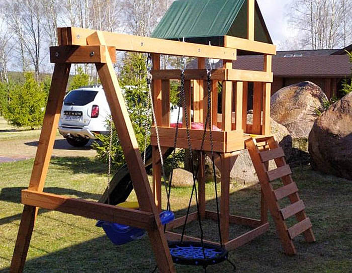 BabygARDEN PLAY 1 с качелями-гнездо 06м 700
