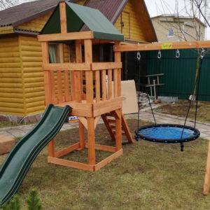 BabygARDEN PLAY 1 с качелями-гнездо 1м.