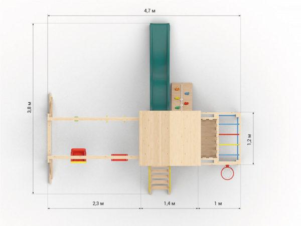 Детская игровая площадка Лео макси-3