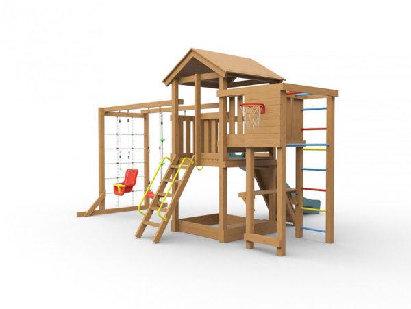 Детская игровая площадка Лео макси окрашенная