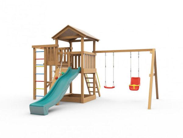 Детская игровая площадка Лео окрашенная-1
