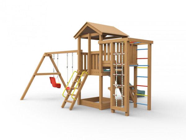 Детская игровая площадка Лео окрашенная-3