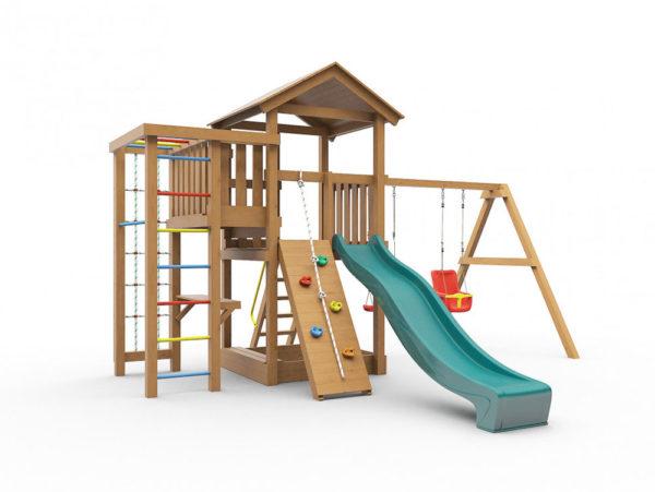 Детская игровая площадка Лео окрашенная